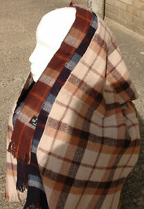 Womens Mens Unisex Scarf Checked Pattern Supersoft  with Fringes 133cm x 30cm