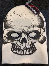 Skull Design White/Black Full Ski Mask by Bio-Domes Headgear One Size Fits All