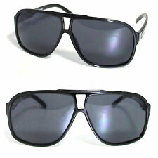 Black Flat Top Plastic Aviator Sunglasses Big Oversize Retro 70s 80s Style RF184