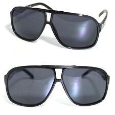 Black Flat Top Plastic Aviator Sunglasses Big Oversize Retro 70s 80s Style RF184