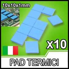 10 pezzi PAD TERMICO Thermal Pad 10x10x1mm Pasta Termica Alta Dissipazione