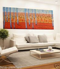 200cm x 90cm  Art painting  Modern bush scrub by Jane COA Australia