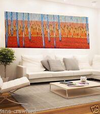 200cm x 90cm  Art painting  Modern bush scrub by Jane COA Australia aboriginal
