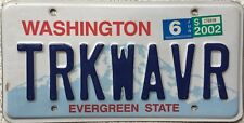 GENUINE American Washington Mount Rainier License Licence Number Plate TRKWAVR