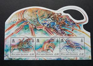 *FREE SHIP Pitcairn Islands Lobsters 2013 Marine Ocean (ms) MNH *odd *unusual