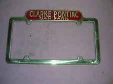 Pontiac NOS Clark Pontiac Oak Park, Illinois license plate frames