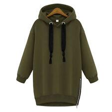 Womens Long Sleeve Hoodies Sweatshirt Hooded Sweater Jumper Pullover Tops Coat