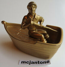 LOOSE McDonald's 1997 Little Mermaid PRINCE ERIC BOAT GOLD Tub Toy DISNEY Topper