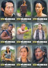 THE WALKING DEAD 4 PART 2 2016 MINI MASTER BASE + 3 INSERT CARD SETS TV