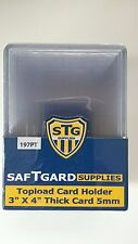 SafTgard Top Load Rigid Card Protector 3x4 5mm 197pt Thick Card Pack Of 10 NIP