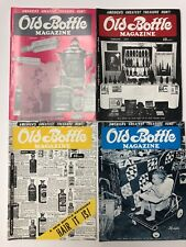 Vintage Old Bottle Magazine Jan - April 1973 Lot of 4 - FREE SHIP - Insulators
