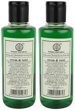 Khadi Natural Neem and Tulsi Herbal Face Wash, 210ml (Pack of 2)