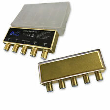 DiSEqC Switch 4 TO 1 Gold Plated Full HD 3D Ready 1.5 dB Frequency 950 2400 MHz