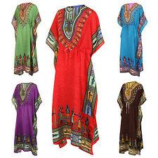 Long Dashiki Dress Kaftan African Tribal Poncho Mexican Hippie Festival Shirt