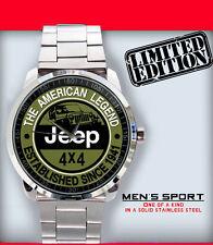 New Limited Edition  Jeep American The Legend Emblem Sport Metal Wristwatch 2