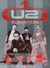 U2 Elevation North American Tour 2001 Leg 2 Concert Poster Ultra Rare!