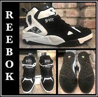 REEBOK CLASSIC BLACKTOP BOULEVARD BLACK WHITE MEN SNEAKER Sz 13 V55438 AWESOME