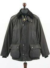 BARBOUR A104 BEDALE Waxed Cotton Jacket Coat Black Tartan Lining C 38 / 97 cm