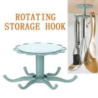 Kitchen Hooks Storage Self Organizer Rotated Adhesive Hanger Hanging Rack