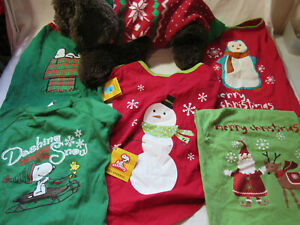6 Pet Large Dog Christmas Clothes Puppy SWEATER SHIRT Costume Apparel SNOOPY