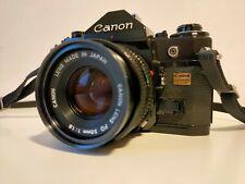 Canon A-1 35mm SLR Film Camera + FD 50mm F1.8 FD Lens TESTED BAG analogic camera