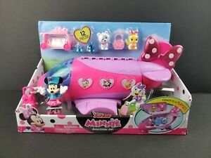 Disney Junior Minnie Mouse Bow Liner Jet Playset 12 Pieces Toy Plane 2020 - NEW
