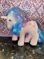 Unicorn RARE Vintage My Little Pony Fuzzy Felt Buttons