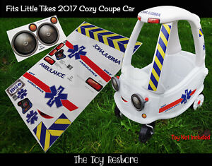 Toy Restore Replacement Stickers Ambulance Fits Little Tikes 2017 Cozy Coupe Car