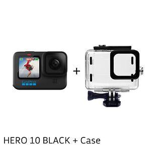 GoPro HERO 10 Black 4K 5.3K 23MP GP2 Video Action Sport Camera +Waterproof case