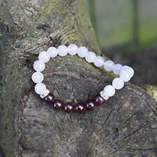 Soothing And Calming Healing Crystals Bracelet, Rose Quartz And Garnet Natural S