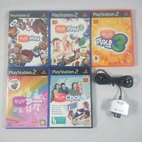 Sony PlayStation 2 PS2 Eye Toy Camera - Silver - Plus 5 Eye Toy Games