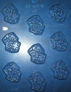 NINE SMALL PAIR OF DICE SHAPES CHOCOLATE MOULD
