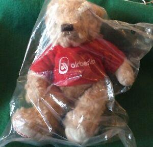 "Air Berlin Souvenir Joe And Friends 9"" Teddy Bear New In Bag"