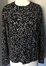 Talbots Wool Blend Black Knit Cardigan Sweater, Sequins, Long Sleeves Sz XL EUC