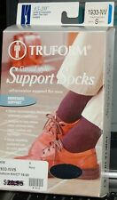 Truform Casual Style Support Socks -Over The Calf - 15-20  Navy - S
