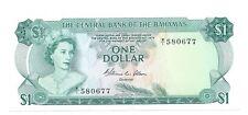 1 dollar 1974 Bahamas Pick 35b p $ d S/N 580677