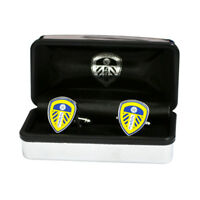 Leeds United Cufflinks Crest Fan Fun Gift Box New Official Licensed Product