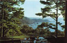 Carmel California 1950s Postcard Highlands Inn Hotel View From Dining Room