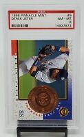 1998 Pinnacle Mint #9 Yankees HOF Star DEREK JETER Baseball Card PSA 8 NM Pop 14