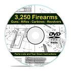 3250 Gun Rifle Pistol Firearm Shotgun Handgun Manuals, Tear Down Guides DVD V21