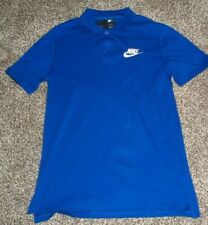 Nike Men's Polol Shirt Blue Size S 100% Cotton 909752-438