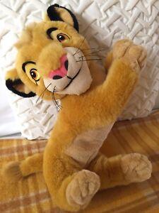 Vintage Disney The Lion King *Simba* Cub Plush Posed Pouncing Stuffed Toy 40cm