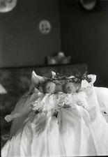 Antique Post Mortem Child Twins Photo 114 Bizarre Odd Strange
