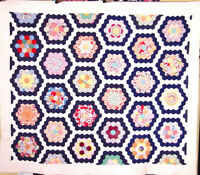 sale in r store BRILLIANT ANTIQUE  FLOWER GARDEN QUILT MINT