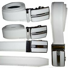 Men's belt Genuine Leather Dress Belt, Auto Lock belt sliding buckle up to 50 in