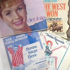 DEBBIE REYNOLDS Lot of4 Susan Slept Here IRENE How The West Was Won SHEET MUSIC