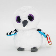 "6""  Ty Beanie Boos White Owl Beanbag Baby Plush Stuffed Animals Soft Toys ^"