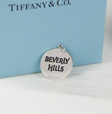 New Tiffany & Co. Beverly Hills Round Silver Charm or Pendant- Very cool! Ltd Ed