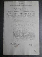 MANUSCRITO AÑO 1828 MADRID REGALÍA DE REAL APOSENTO BONITO