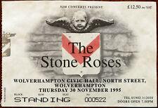 The Stone Roses Civic Hall Wolverhampton 30th November 1995 Ticket Stub